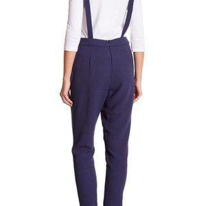 June & Hudson Blue Halter Tie Jumpsuit Pantsuit